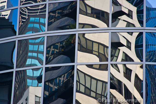 Window reflections in downtown Chicago