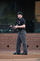 Umpire Matt Winter during a Southern League game between the Jacksonville Jumbo Shrimp and Mobile BayBears on May 8, 2019 at Hank Aaron Stadium in Mobile, Alabama.  Jacksonville defeated Mobile 7-1.  (Mike Janes/Four Seam Images)