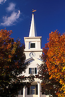 church, Dublin, NH, New Hampshire, Community Church surrounded by colorful fall foliage in the town of Dublin.