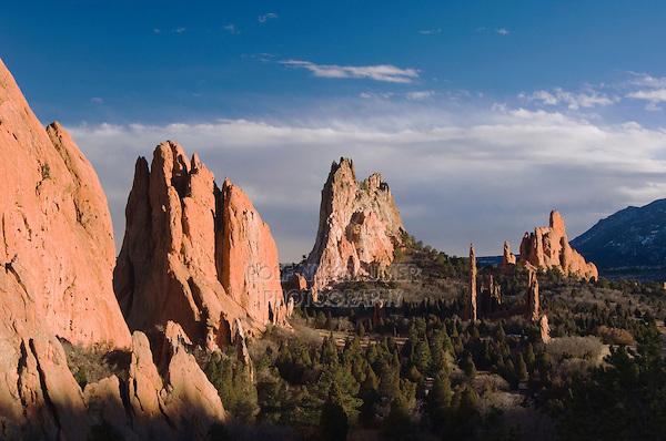 Rock formation, Garden of The Gods National Landmark, Colorado Springs, Colorado, USA, February 2006