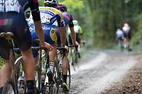race leaders over the gravel<br /> <br /> Dwars door het Hageland (1.1)<br /> 1 Day Race: Aarschot > Diest (194km)
