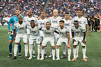 FOXBOROUGH, MA - AUGUST 3: New England Revolution starting eleven during a game between Los Angeles FC and New England Revolution at Gillette Stadium on August 3, 2019 in Foxborough, Massachusetts.