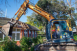 Demolition of music block by Michael Flanagan, Kings College, Auckland, Friday, July 16, 2021.Photo: David Rowland / One-Image.com