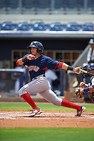 GCL Red Sox outfielder Chris Madera (40) at bat during the second game of a doubleheader against the GCL Rays on August 4, 2015 at Charlotte Sports Park in Port Charlotte, Florida.  GCL Red Sox defeated the GCL Rays 2-1.  (Mike Janes/Four Seam Images)