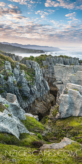 Dolomite Point in Punakaiki, Paparoa National Park, West Coast, Buller Region, New Zealand, NZ