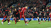 Liverpool's Roberto Firmino under pressure from Atletico Madrid's Renan Lodi <br /> <br /> Photographer Rich Linley/CameraSport<br /> <br /> UEFA Champions League Round of 16 Second Leg - Liverpool v Atletico Madrid - Wednesday 11th March 2020 - Anfield - Liverpool<br />  <br /> World Copyright © 2020 CameraSport. All rights reserved. 43 Linden Ave. Countesthorpe. Leicester. England. LE8 5PG - Tel: +44 (0) 116 277 4147 - admin@camerasport.com - www.camerasport.com