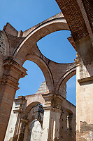 Antigua, Guatemala.  Ruins of the Cathedral of Santiago.