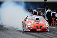 Sept. 18, 2011; Concord, NC, USA: NHRA pro stock driver Jason Line during the O'Reilly Auto Parts Nationals at zMax Dragway. Mandatory Credit: Mark J. Rebilas-