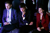 Davide Casaleggio, Alessandro di Battista, Virginia Raggi <br /> Rome January 22nd 2019. Convention of the Movement 5 Stars party to explain the Basic Income Law just approved.<br /> Foto Samantha Zucchi Insidefoto