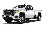 Stock pictures of low aggressive front three quarter view of 2020 GMC Sierra-3500HD - 4 Door Pick-up Low Aggressive