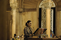 Ms. Esmeralda Hernandez Aragones, Chief of Delegation of the European Commission during her speech.....Official Opening Ceremony of ST. Petrus and Paulus Cathedral (AKA World's largest wooden cathedral)
