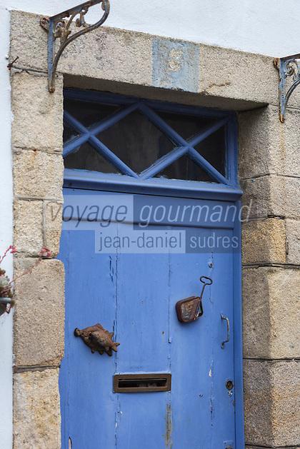 France, Bretagne, (29), Finistère, Douarnenez: Détail habitat marin, rue Hervé Julien
