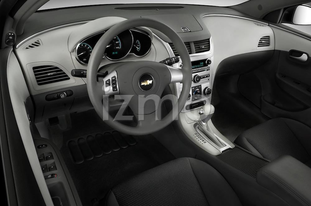 High angle dashboard view of a  2008 Chevrolet Malibu Sedan