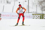 MARTELL-VAL MARTELLO, ITALY - FEBRUARY 02: WANG Yue (CHN) during the Women 7.5 km Sprint at the IBU Cup Biathlon 6 on February 02, 2013 in Martell-Val Martello, Italy. (Photo by Dirk Markgraf)