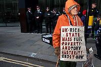 "26.11.2013 - ""Bring Down the Big Six: Fuel Poverty Kills!"" Demonstration"