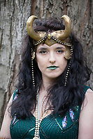 Beautiful Flapper Loki Girl, Emerald City Comicon 2018, Seattle, Washington, USA.