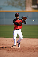 Kevin Wright II (3) of Ridgeland High School in Madison, Mississippi during the Baseball Factory All-America Pre-Season Tournament, powered by Under Armour, on January 13, 2018 at Sloan Park Complex in Mesa, Arizona.  (Mike Janes/Four Seam Images)