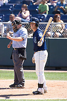 July 25, 2010: Everett AquaSox's Jimmy Jacquot (16) at-bat during a Northwest League game against the Salem-Keizer Volcanoes at Everett Memorial Stadium in Everett, Washington.