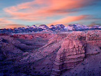Sunrise at The Hartnet South Desert Waterpocket Fold. Capitol Reef National Park, Utah