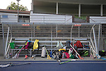 BERLIN, GERMANY - JUNE 21: Match of Team Germany (black) vs Team Switzerland (light blue) during the Berlin Open Lacrosse Tournament 2013 at Stadion Lichterfelde on June 21, 2013 in Berlin, Germany. Final score 20-0. (Photo by Dirk Markgraf/www.265-images.com) *** Local caption ***