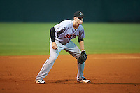 Jupiter Hammerheads third baseman Brian Anderson (31) during a game against the Lakeland Flying Tigers on March 14, 2016 at Henley Field in Lakeland, Florida.  Lakeland defeated Jupiter 5-0.  (Mike Janes/Four Seam Images)