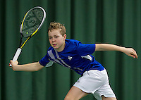 March 15, 2015, Netherlands, Rotterdam, TC Victoria, NOJK, Final boys 14 years, Lodewijk Westrate (NED)<br /> Photo: Tennisimages/Henk Koster