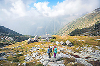 The Via Alta Verzasca is a five day ridge traverse hike above the Valle Verzasca in the Ticino region of Switzerland. Arriving to the Capanna Cornavosa on the second night of the tour.