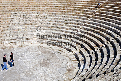 CYPRUS, near Limassol (Lemesos), Kourion: archaelogical excavation - greek-roman theatre<br />