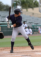GCL Yankees third baseman Dante Bichette Jr at bat during game three of the GCL Championship Series against the GCL Marlins at Roger Dean Stadium on August 31, 2011 in Jupiter, Florida.  GCL Yankees defeated the GCL Marlins 3-1 to capture the league championship.  (Stacy Grant/Four Seam Images)