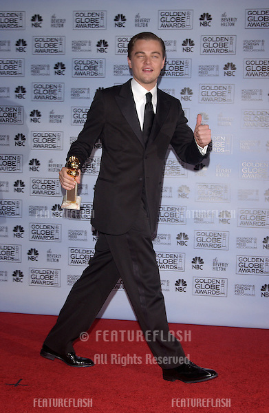 Jan 16, 2005; Los Angeles, CA: LEONARDO DiCAPRIO at the 62nd Annual Golden Globe Awards at the beverly Hilton Hotel..