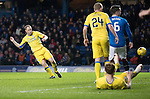 Rangers v St Johnstone…01.03.17     SPFL    Ibrox<br />Steven Anderson scores to make it 2-2<br />Picture by Graeme Hart.<br />Copyright Perthshire Picture Agency<br />Tel: 01738 623350  Mobile: 07990 594431