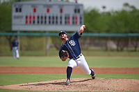 San Diego Padres pitcher Dan Dallas (37) delivers a pitch to the plate during an Instructional League game against the Chicago White Sox on September 26, 2017 at Camelback Ranch in Glendale, Arizona. (Zachary Lucy/Four Seam Images)