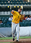 Amarillo Sox Infielder Van Pope (25) in action during the American Association of Independant Professional Baseball game between the Amarillo Sox and the Fort Worth Cats at the historic LaGrave Baseball Field in Fort Worth, Tx. Fort Worth defeats Amarillo 5 to 3.