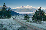 scenic view of mountains above Dry Gulch in the Rocky Mountains, Estes Park, Colorado, USA