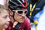 Geraint Thomas (WAL) Team Ineos waits for the start of Stage 3 of the 2019 Tour de France running 215km from Binche, Belgium to Epernay, France. 8th July 2019.<br /> Picture: Colin Flockton | Cyclefile<br /> All photos usage must carry mandatory copyright credit (© Cyclefile | Colin Flockton)