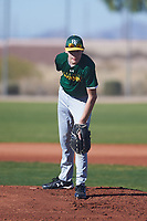Ethan Hardie (45), from Cusick, Washington, while playing for the Athletics during the Under Armour Baseball Factory Recruiting Classic at Red Mountain Baseball Complex on December 28, 2017 in Mesa, Arizona. (Zachary Lucy/Four Seam Images)