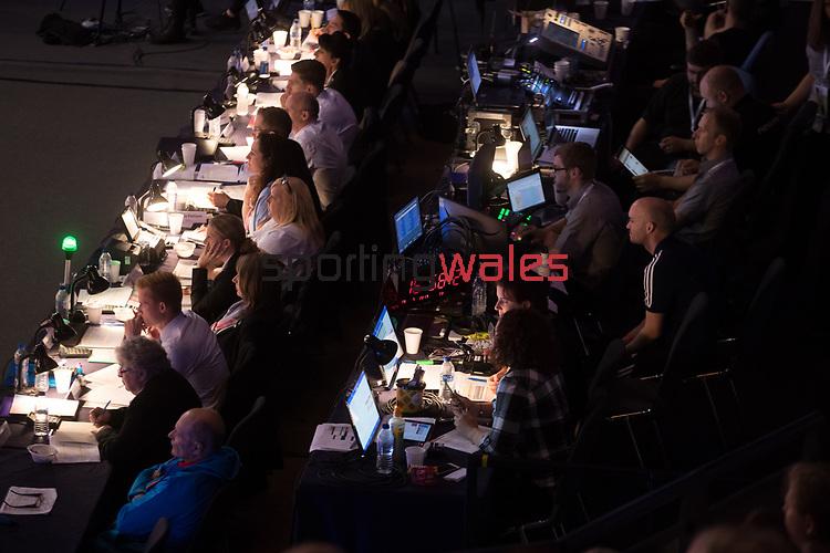 British Gymnastics Championship Series 2017<br /> Judges & Officials<br /> Liverpool Echo Arena<br /> ©Steve Pope <br /> Sportingwales