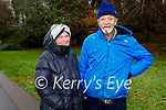 JJ and Kay Murphy enjoying a stroll in the town park in Killarney on Saturday.