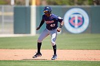 Minnesota Twins T.J. Dixon (47) during a Minor League Spring Training game against the Tampa Bay Rays on March 17, 2018 at CenturyLink Sports Complex in Fort Myers, Florida.  (Mike Janes/Four Seam Images)