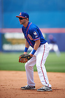 St. Lucie Mets first baseman Kevin Taylor (12) during a game against the Brevard County Manatees on April 17, 2016 at Tradition Field in Port St. Lucie, Florida.  Brevard County defeated St. Lucie 13-0.  (Mike Janes/Four Seam Images)
