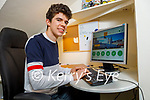 Tim McGrath at home in Killorglin studying on line with UCC .
