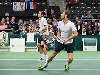 Rotterdam, The Netherlands. 16.02.2014. Michael Llodra(FRA)/Nicolas Mahut(FRA) (L)  ABN AMRO World tennis Tournament<br /> Photo:Tennisimages/Henk Koster