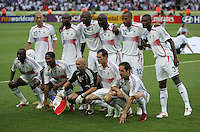 france lines up before the game.  Italy defeated France on penalty kicks after leaving the score tied, 1-1, in regulation time in the FIFA World Cup final match at Olympic Stadium in Berlin, Germany, July 9, 2006.