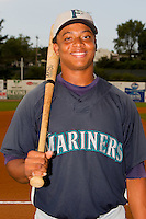 Ramon Morla #22 of the Pulaski Mariners at Boyce Cox Field August 28, 2010, in Bristol, Tennessee.  Photo by Brian Westerholt / Four Seam Images
