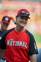 Los Angeles Dodgers Don Mattingly during MLB All-Star Game Practice on July 13, 2015 at Great American Ball Park in Cincinnati, Ohio.  (Mike Janes/Four Seam Images)