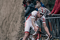Mathieu van der Poel (NED/Beobank-Corendon) trashing the competition from the start and leading the race supremely from start to finish<br /> <br /> Elite Men's race<br /> <br /> UCI cyclocross World Cup Koksijde / Belgium 2017