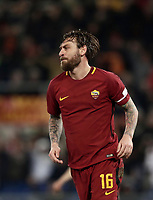 Calcio, Serie A: AS Roma - Torino Roma, stadio Olimpico, 9 marzo, 2018.<br /> Roma's captain Daniele De Rossi celebrates after scoring during the Italian Serie A football match between AS Roma and Torino at Rome's Olympic stadium, 9 marzo, 2018.<br /> UPDATE IMAGES PRESS/Isabella Bonotto