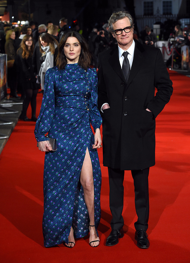 """Rachel Weisz and Colin Firth<br /> arriving for the premiere of """"The Mercy"""" at the Curzon Mayfair, London<br /> <br /> <br /> ©Ash Knotek  D3375  06/02/2018"""