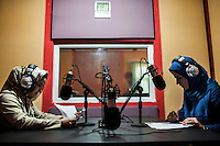 Afghan women broadcast at Herat national radio /Felix Features