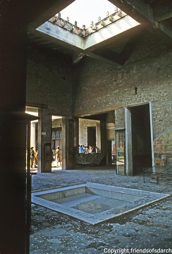 Italy: Pompeii--House of the Vetti. Atrium and Impluvium.